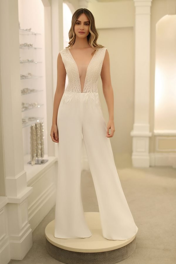 Michelle Roth Gown Bari Jumpsuit